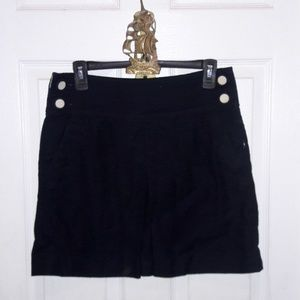 J. Crew sailor style button front skirt